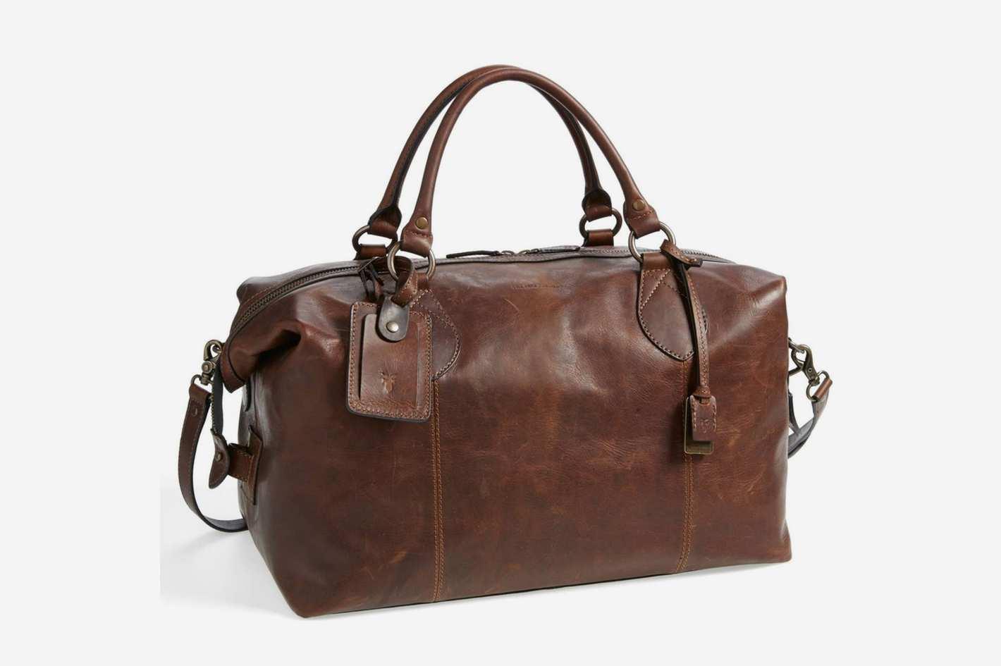 Frye Logan Leather Overnight Bag
