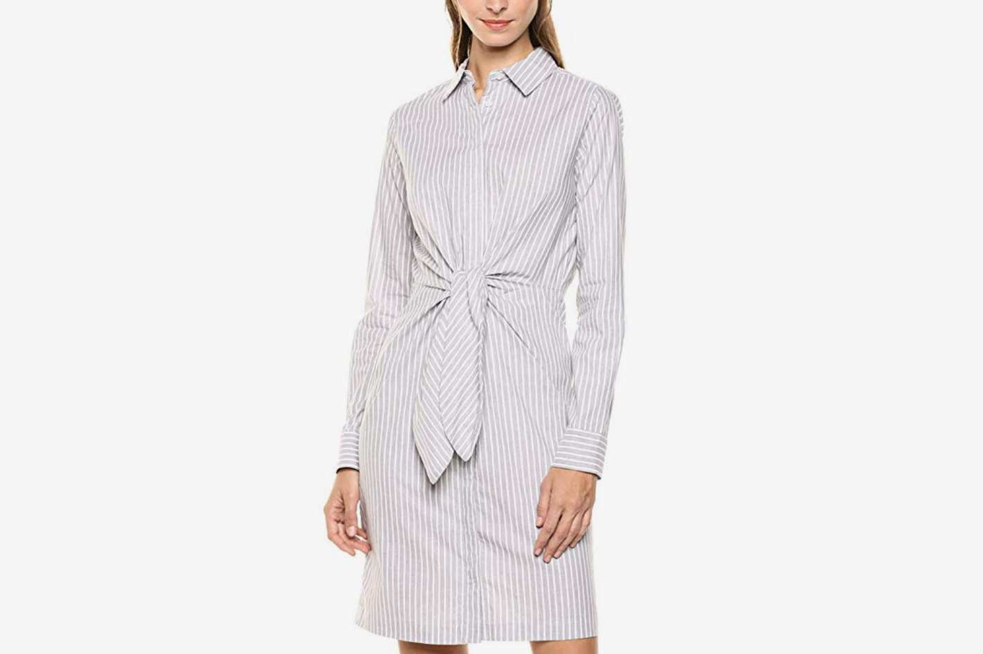 Calvin Klein Women's Long Sleeve Shirt Dress