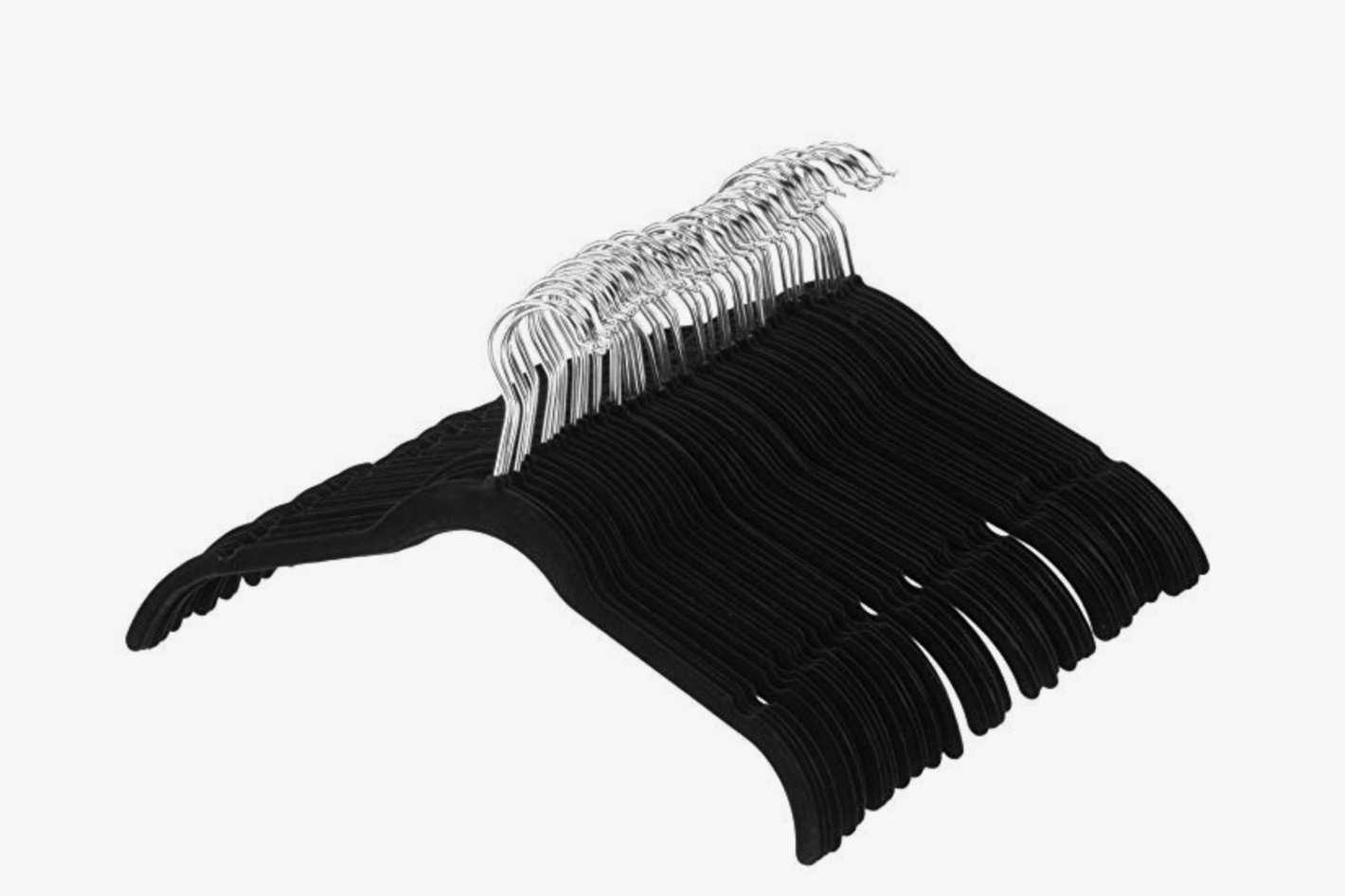 AmazonBasics 100-Pack Velvet Shirt Dress Clothes Hangers