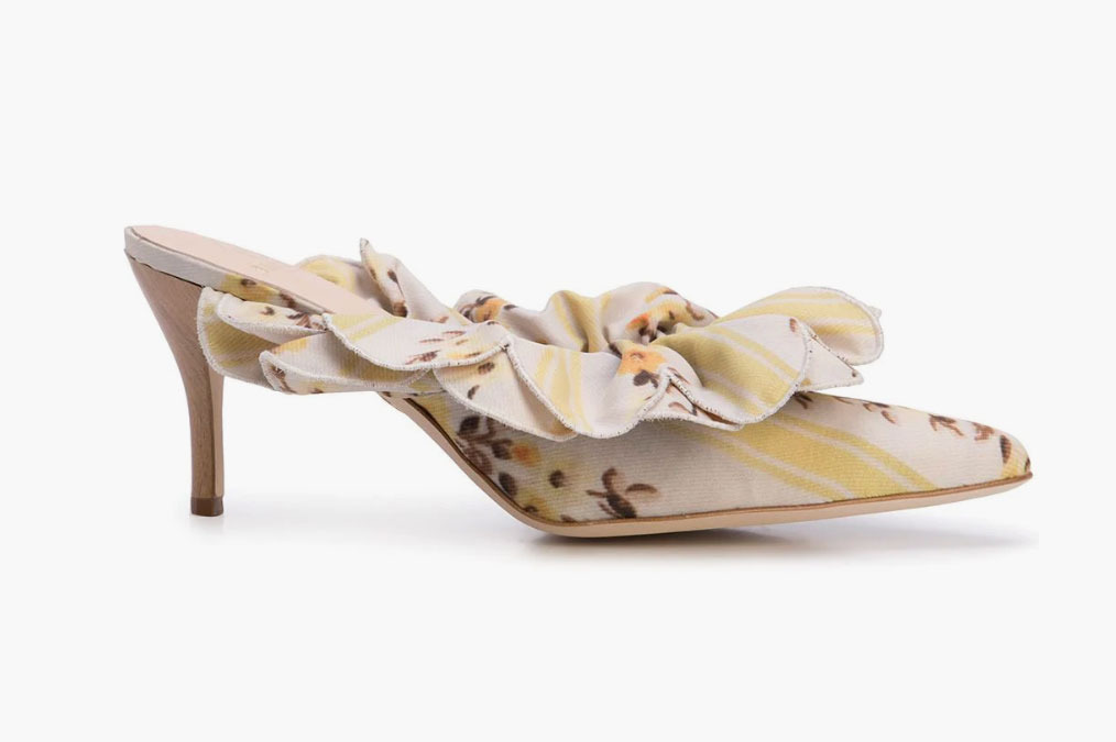 Brother Vellies Frilled Mules