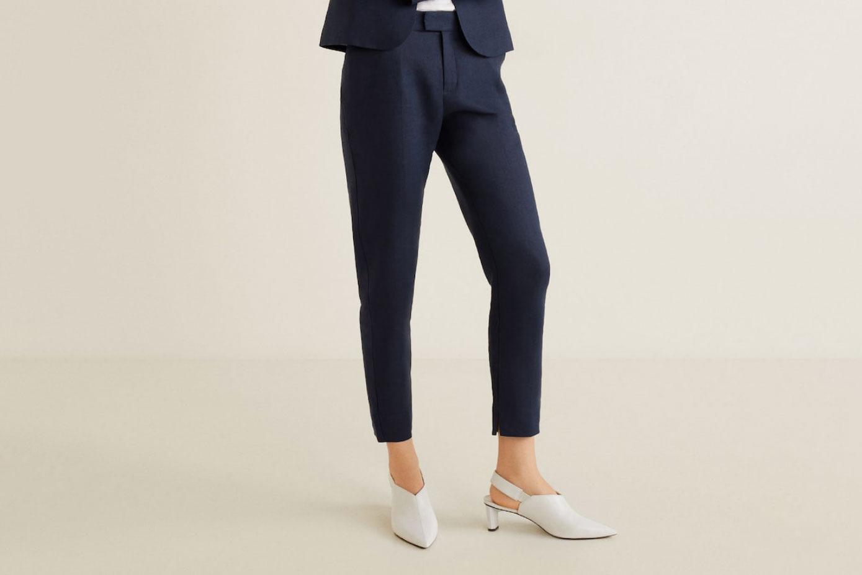 Mango Linen Suit Trousers