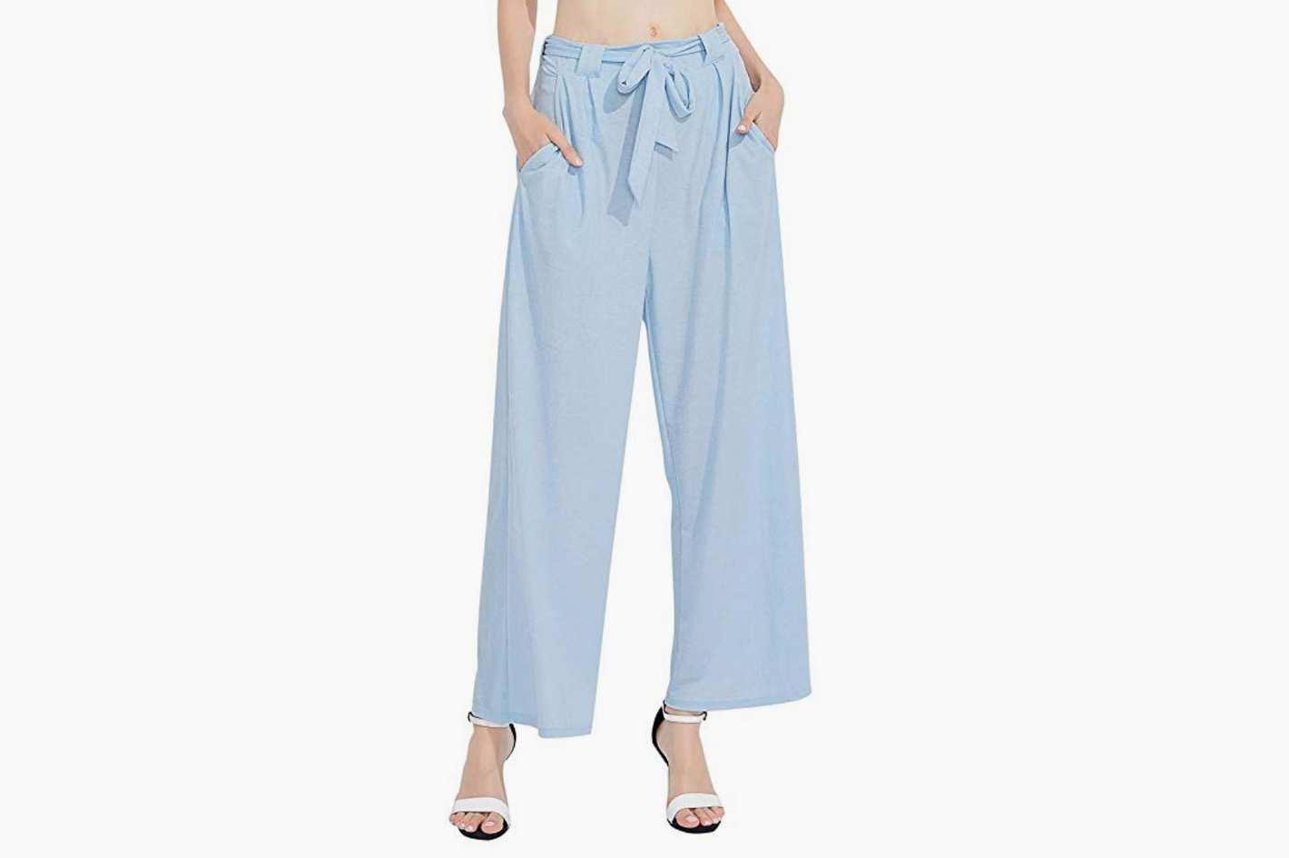 Freeprance Women Linen Wide Leg Pant