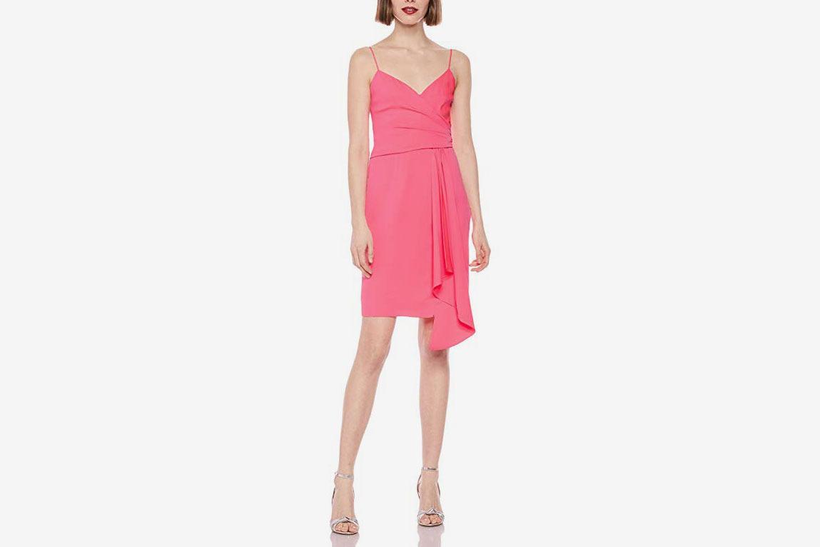 MILLY Women's Stretch Silk Spaghetti Strap Cindy Dress