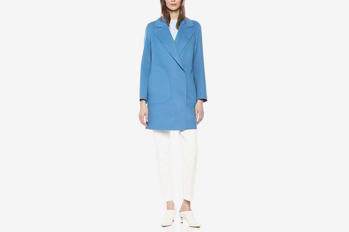 Theory Women's Single Button Long Sleeve Boy Coat