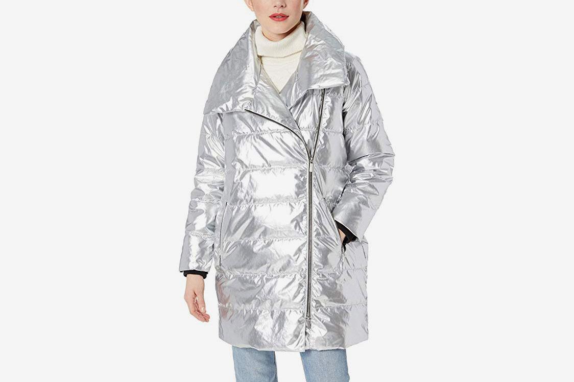 A|X Armani Exchange Women's Ax Metallic Coat
