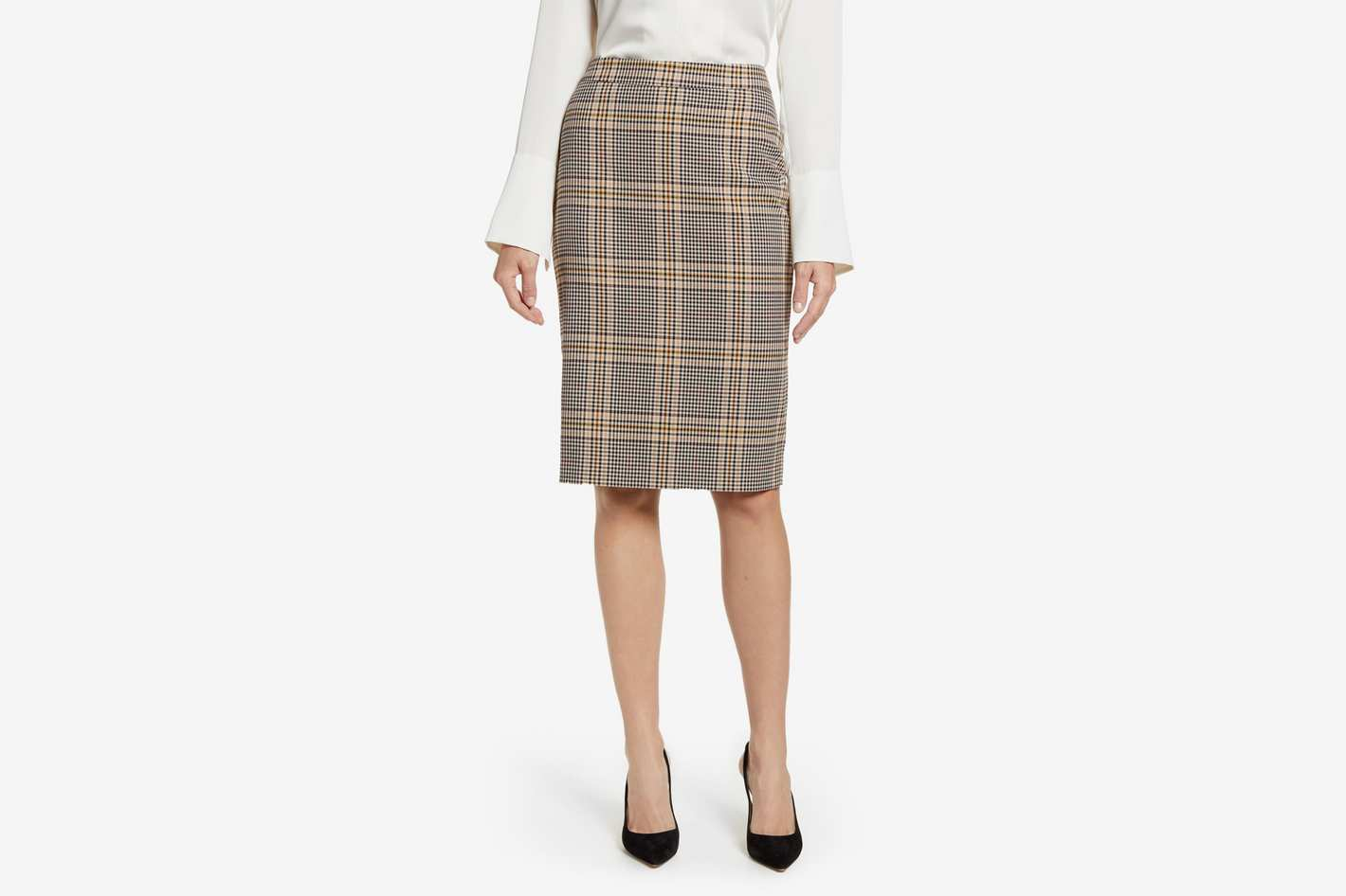 1. State Plaid Pencil Skirt