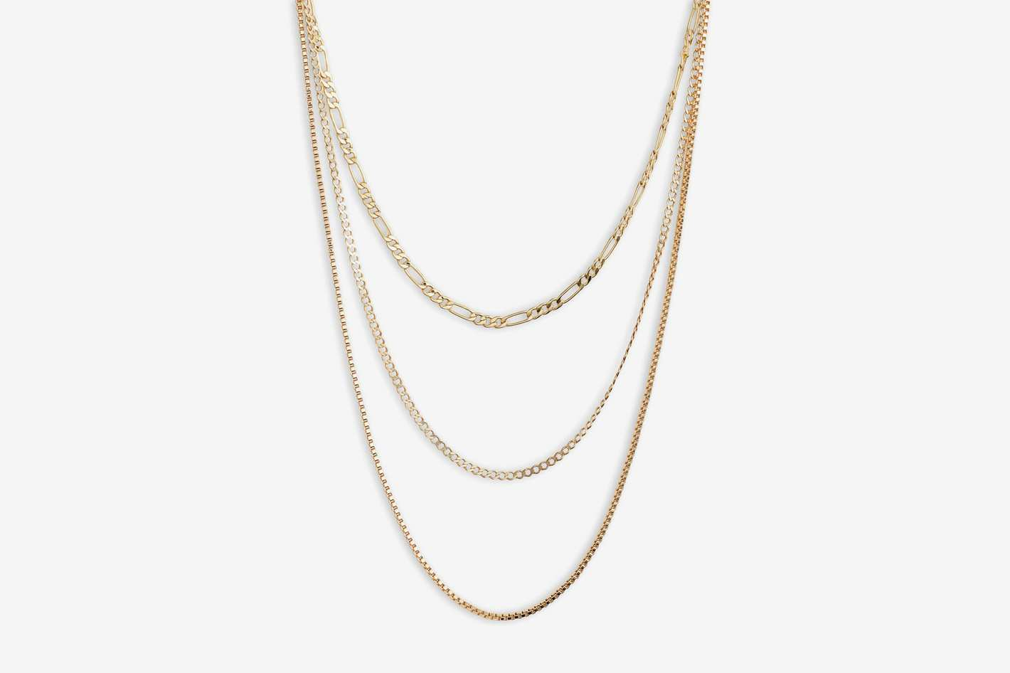 Argento Vivo Triple Layer Chain Necklace