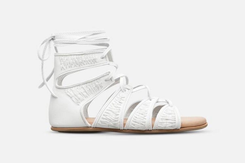 Reye Embroidered Lace-Up Gladiator Sandal