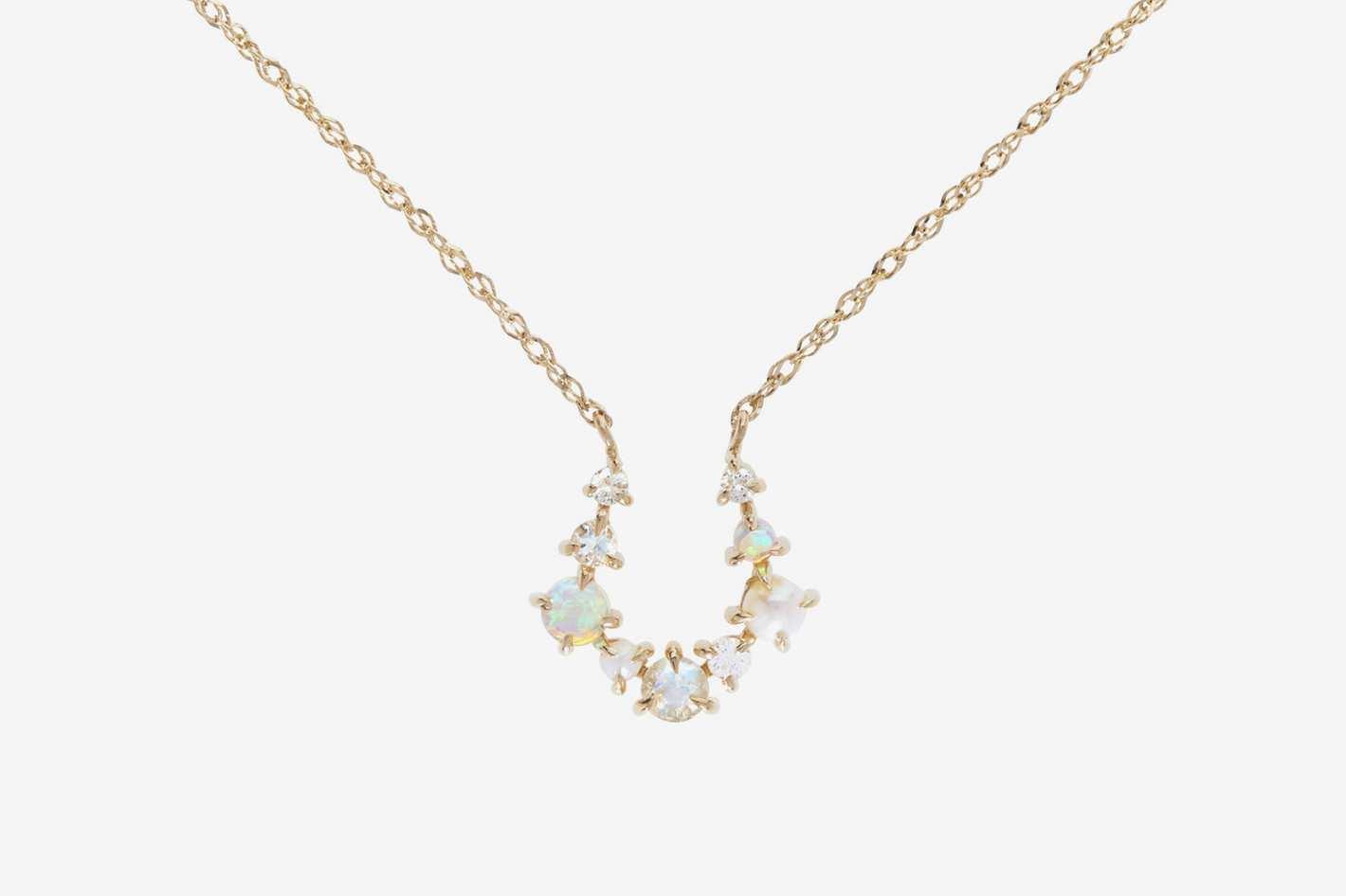 Leith Clark x Catbird Unicorn Horseshoe Necklace