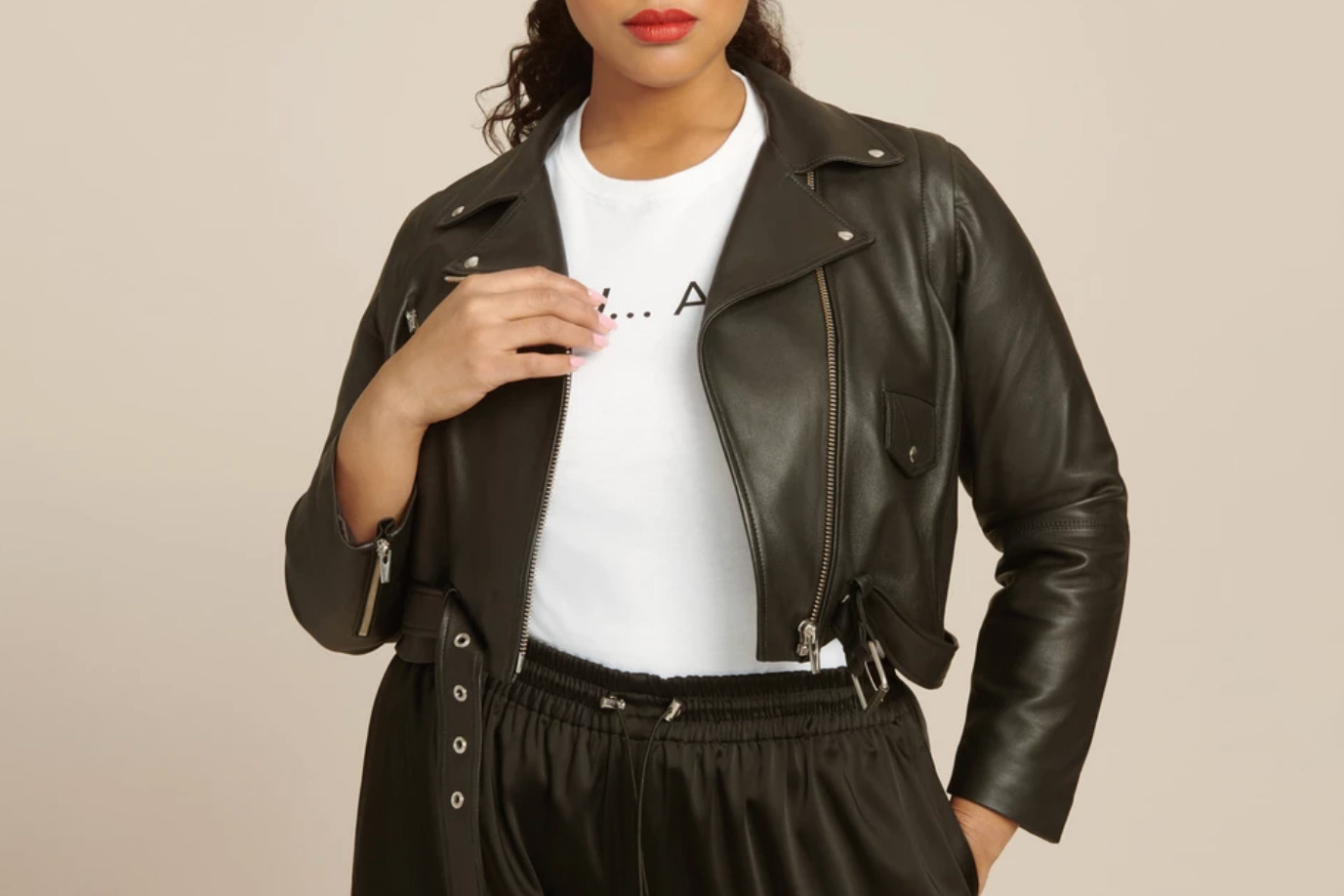 Veda Baby Jane Zip-Off Smooth Leather Jacket