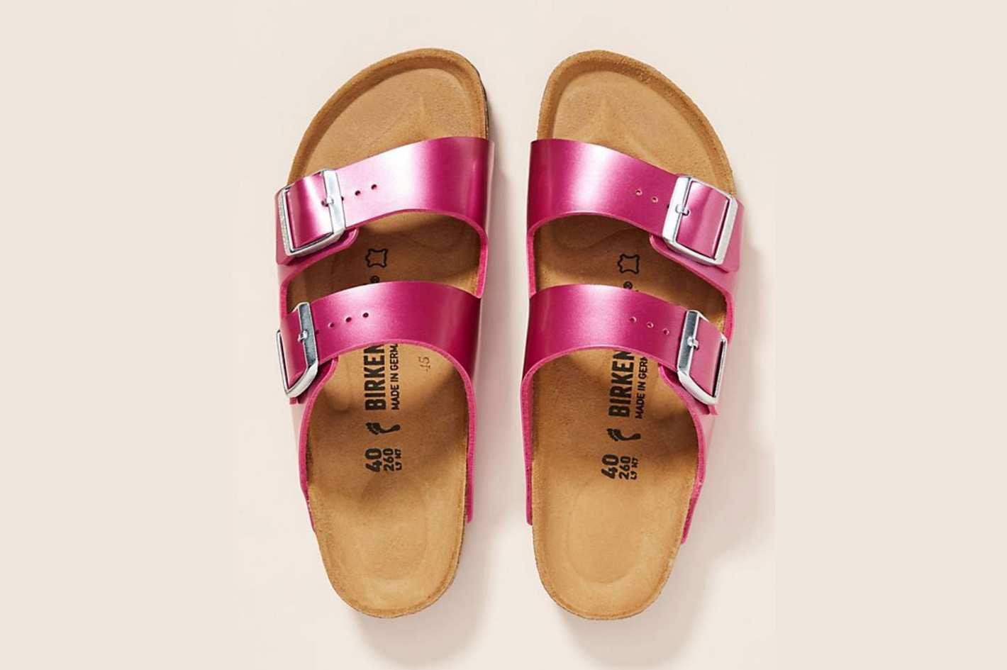 Birkenstock Metallic Arizona Sandals