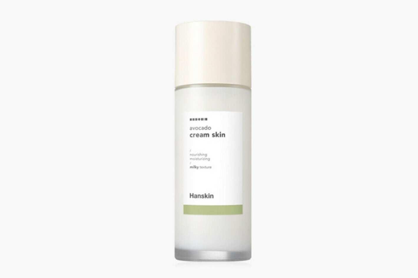 'HANSKIN' Avocado Cream Skin Toner and Moisturizer