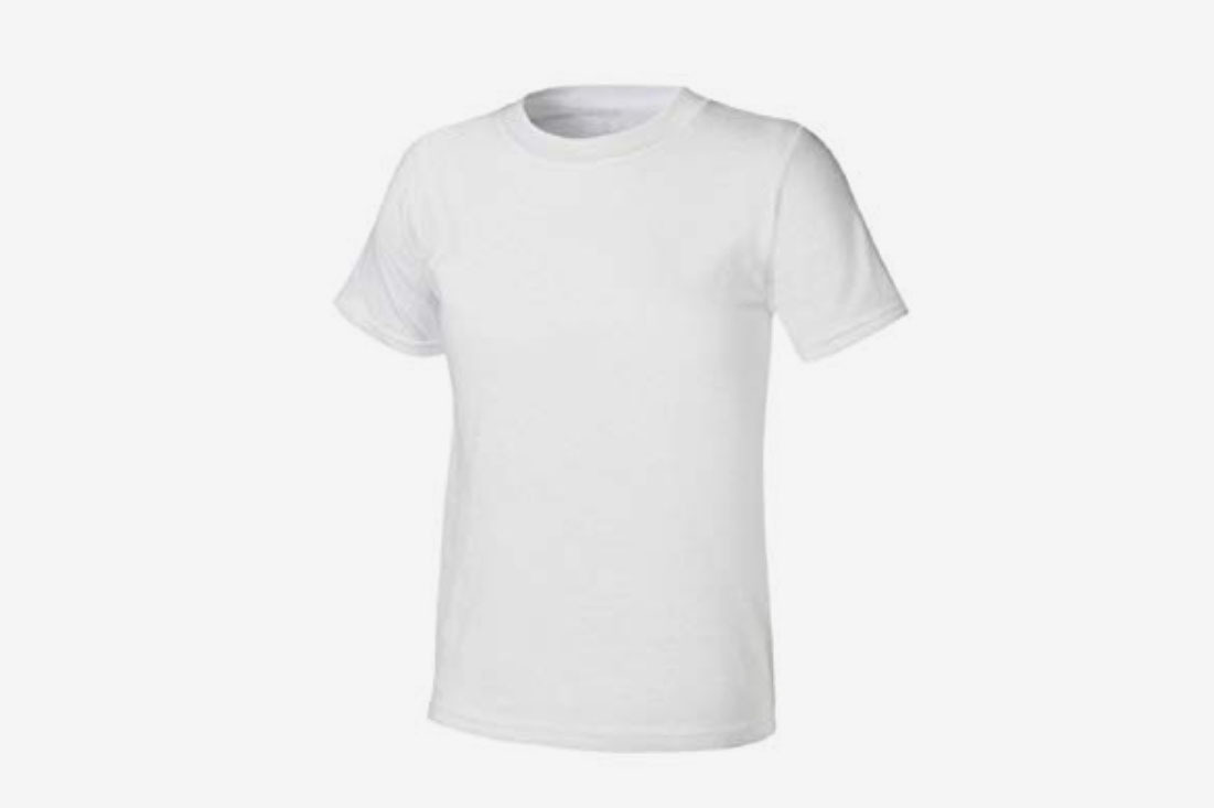 8-Pack Hanes Boys White Crew 100% Cotton Tagless T-Shirts