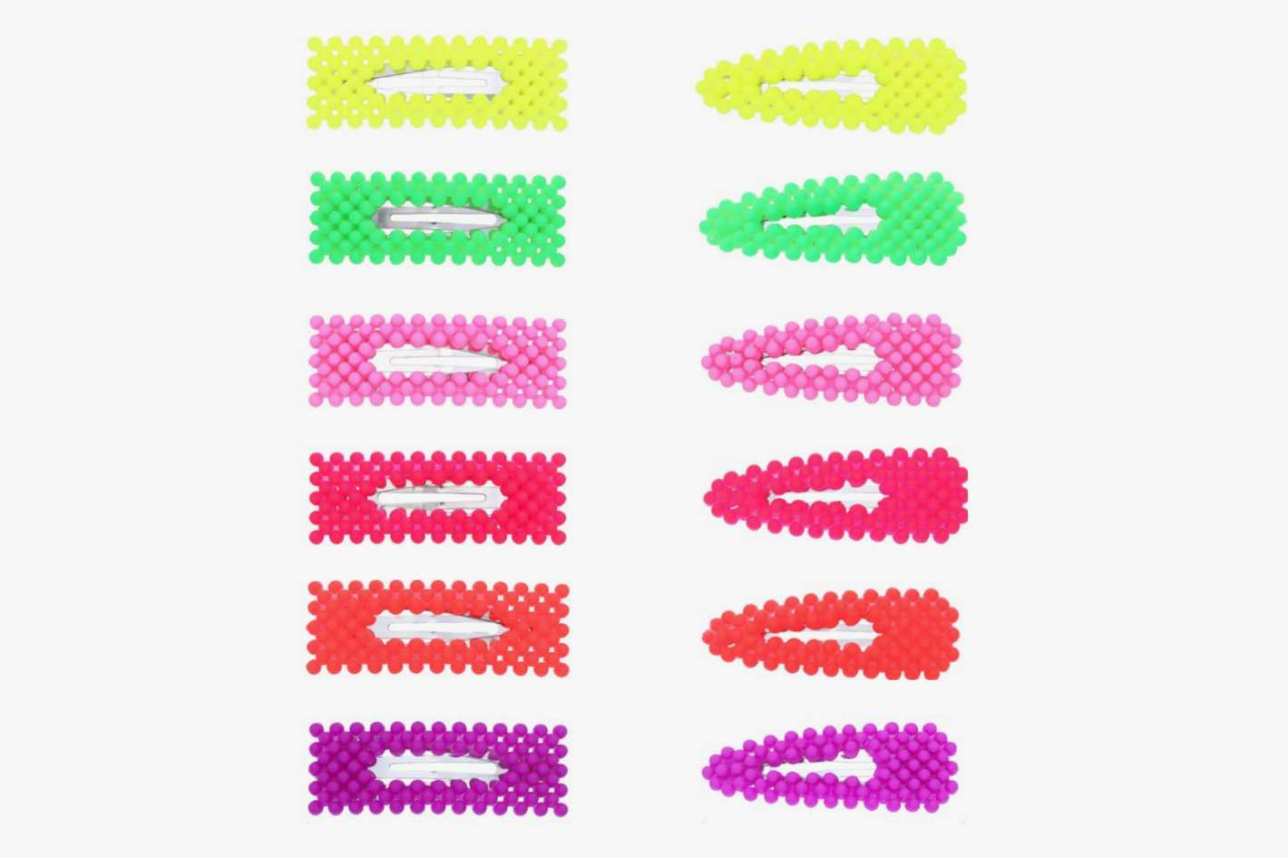 Fani 12 Piece Colorful Snap Hair Clip