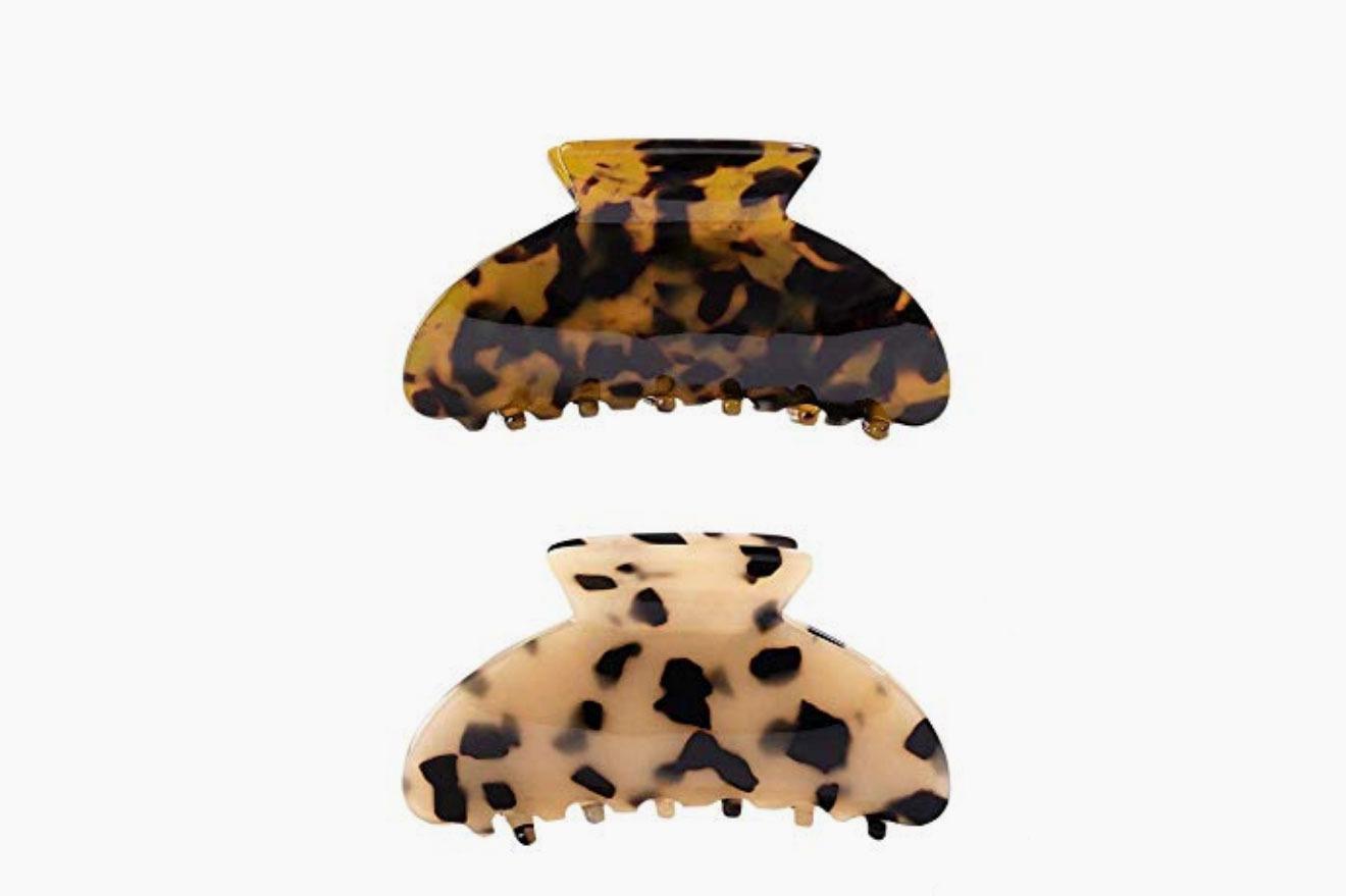 Aileam 2 Piece Hair Claw Clip in Leopard Print