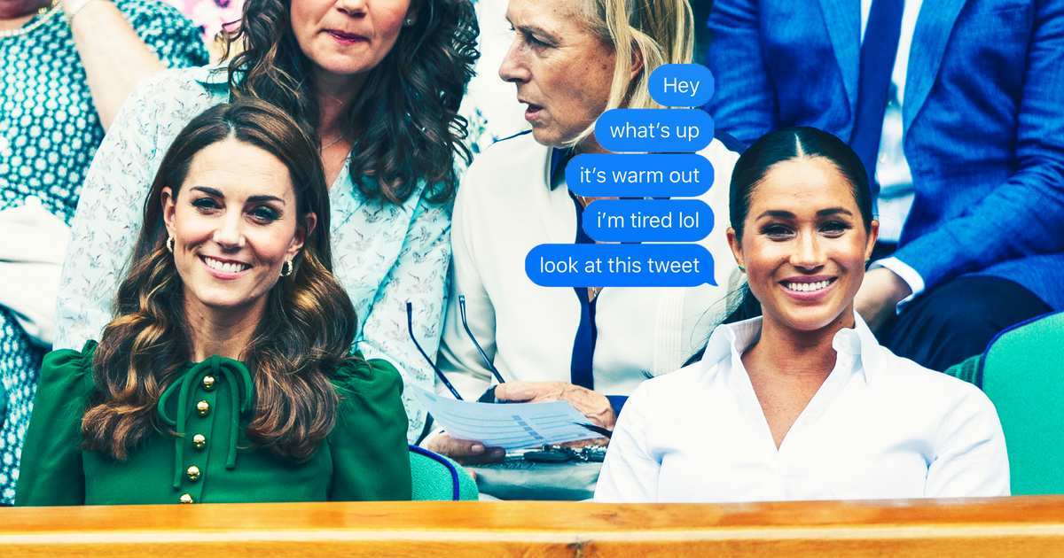 Oh My God — Imagine Group Texting With Meghan Markle