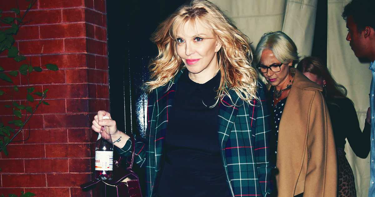 Courtney Love Is Thinking About the Amazon at Fashion Week