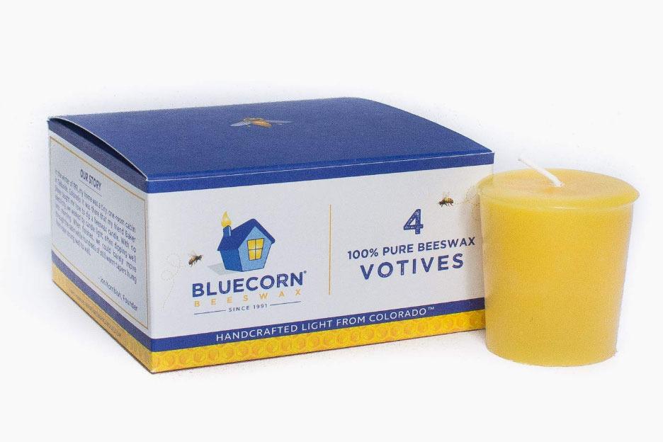 Bluecorn Beeswax Votives