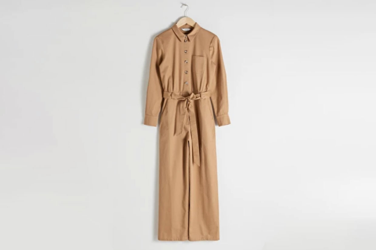 & Other Stories Belted Cotton Boilersuit