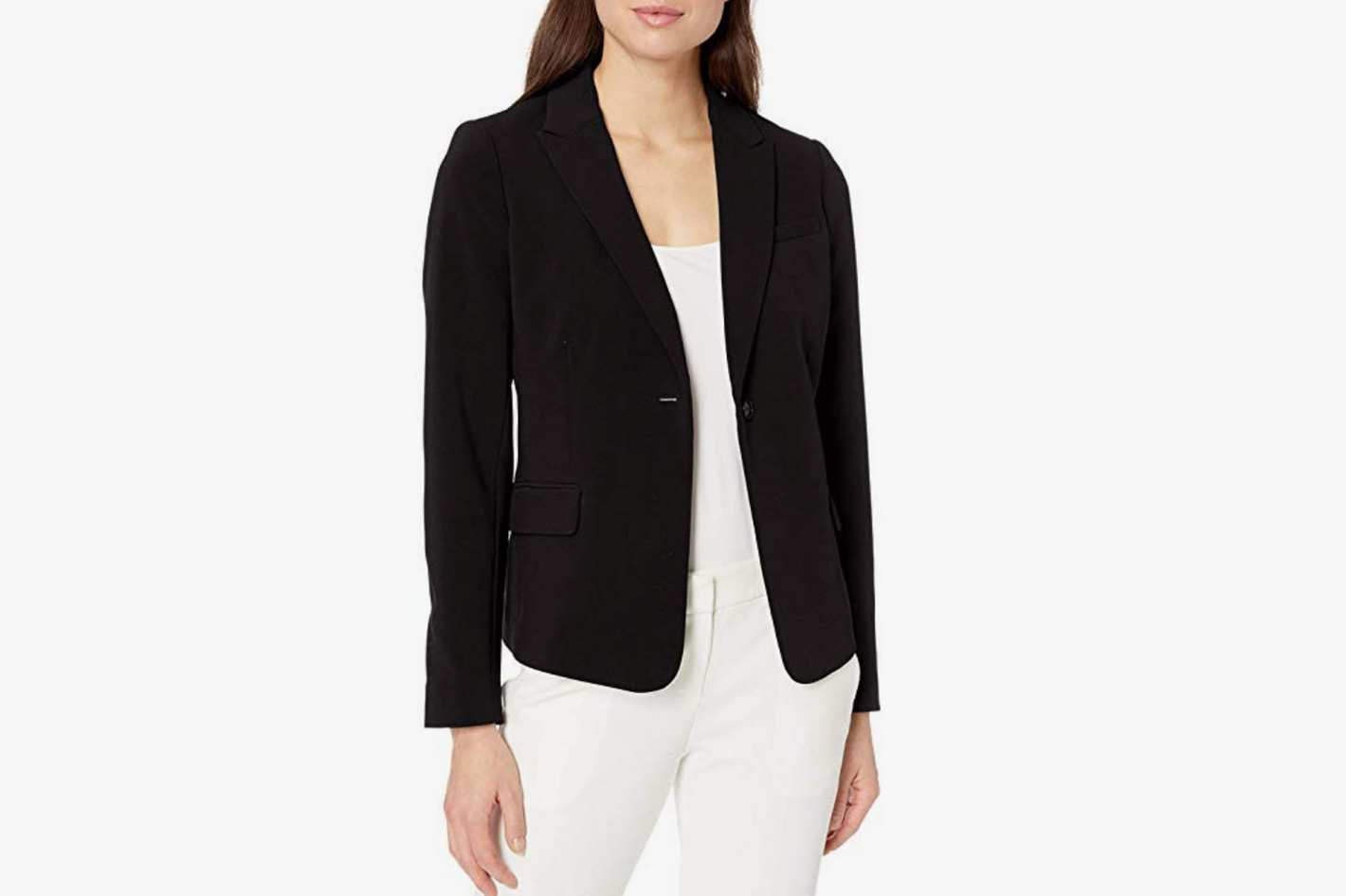 Lark & Ro Women's Classic One Button Blazer