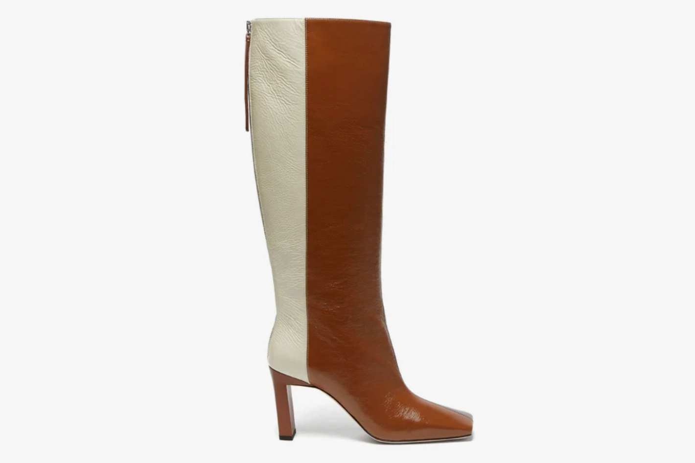 Wandler Isa tri-colour square-toe leather boots