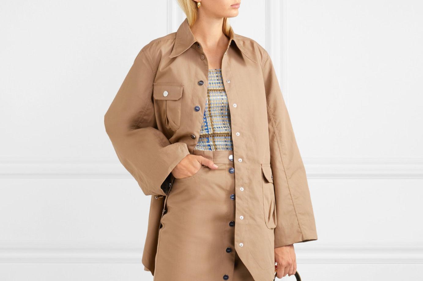 Ganni Brushed-Twill Jacket