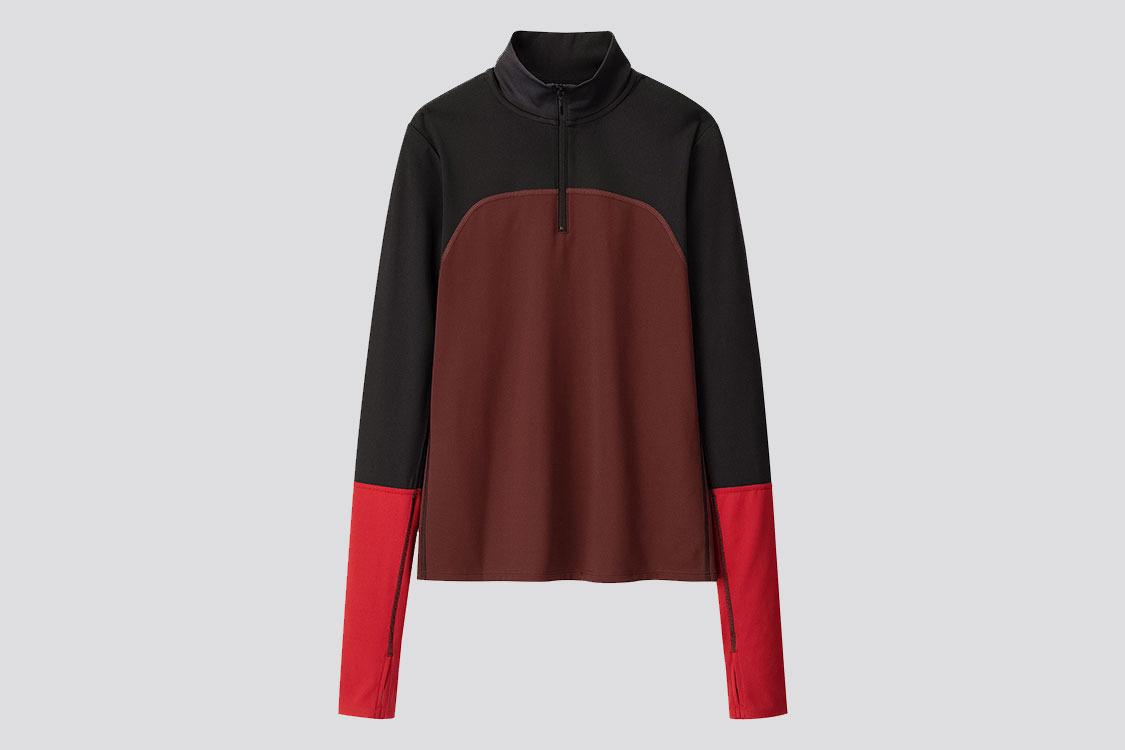 AIRism Half-Zip Long-Sleeve T-Shirt