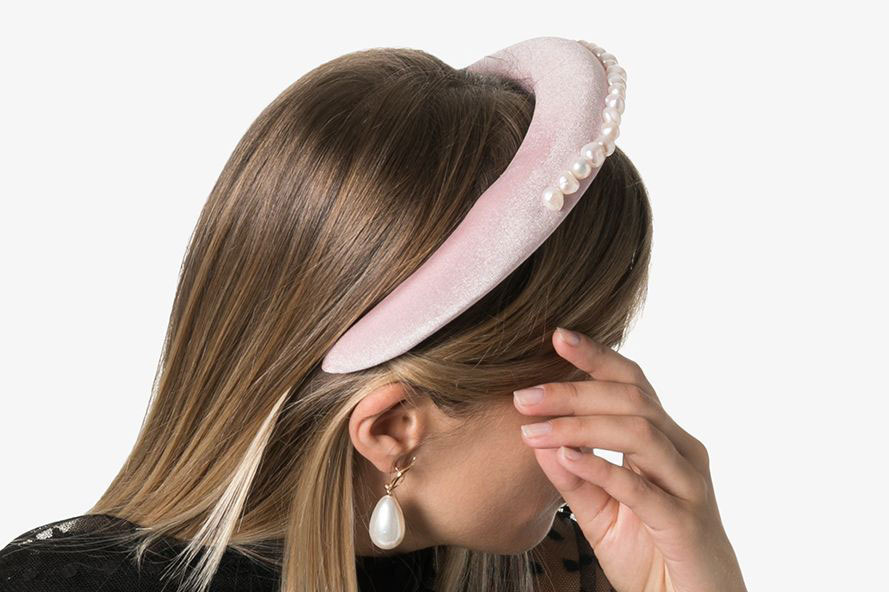 Wald Berlin Pearl Embellished Headband