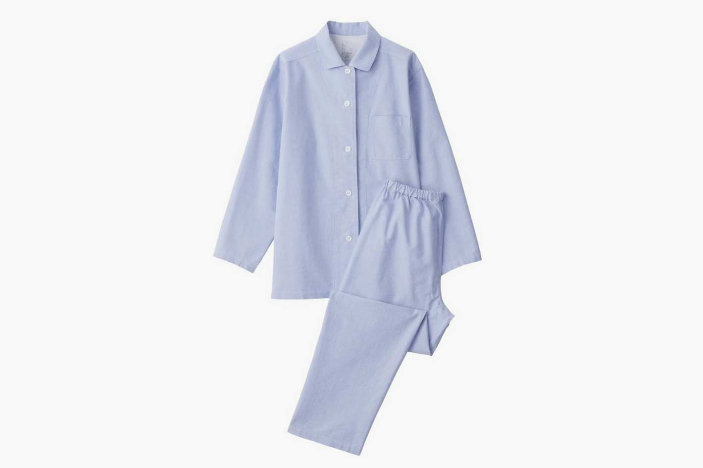 Muji Women's Organic Cotton Seamless Oxford Pajamas