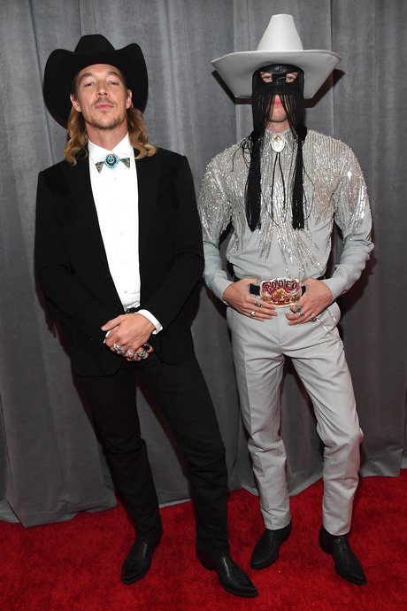 Diplo and Orville Peck at the 2020 Grammy Awards