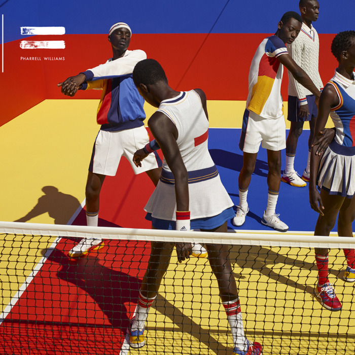 bc4ccac513 Pharrell Williams Releases a Tennis Collection With Adidas Just in Time for  the U.S. Open
