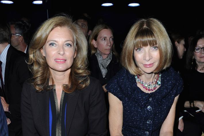 Valerie Trierweiler and Anna Wintour.