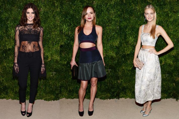 Ashley Greene, Christina Ricci, and Caroline Trentini.