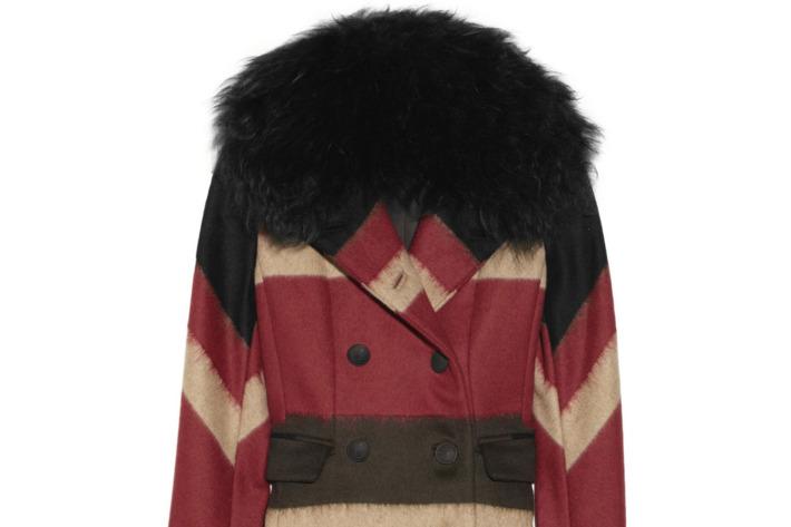 Rag & Bone's Winsor shearling-trimmed coat, $595 (originally $1,895)
