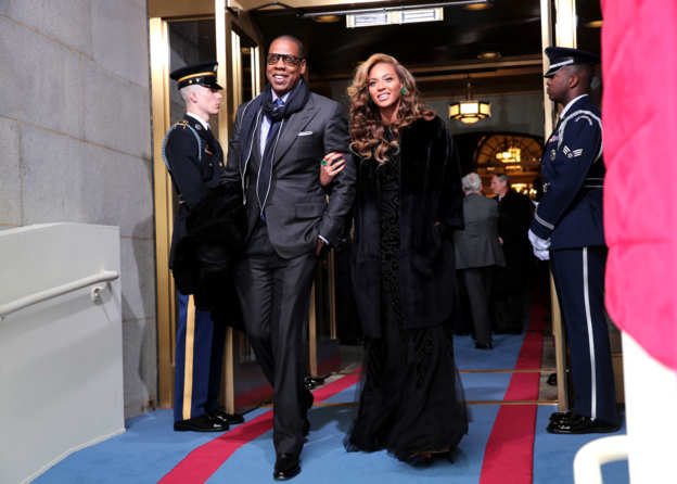 Photo 1 from Jay-Z and Beyoncé arrive at the presidential inauguration