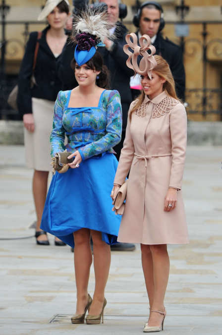 Photo 18 from Princesses Eugenie and Beatrice in Philip Treacy Fascinators
